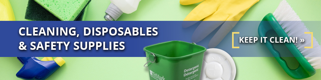 Cleaning, Disposables & Safety Supplies