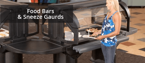 Commerical Quality Food Bars & Sneeze Guards