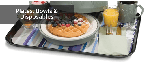 Plates, Bowls & Disposables for Healthcare