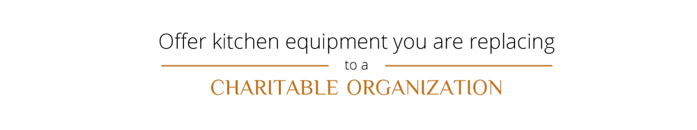 Charitable Organizations Can Use Commerical Kitchen Equipment