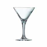 "Cardinal Intl., Cocktail Martini Glass, Excalibur, Arcoroc, Non-Tempered, 7 1/2 oz, 6 3/4"" H"