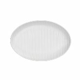 "Embossed Alani, Oval Coupe Platter, 12 1/4"" x 8 1/4"""