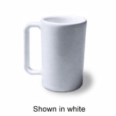Diversified Ceramics Corp., Rouge Coffee Mug, White, 10 oz