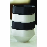 American Metalcraft, Stackable Square Sauce Cup, 3 oz, Black, Melamine