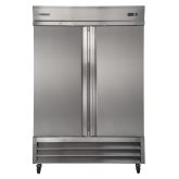 Kintera, Bottom Mount Reach-In Refrigerator, Two-Section, 49 cu ft, Aluminum and S/S