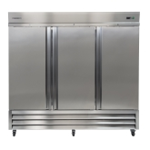 Kintera, Bottom Mount Reach-In Refrigerator, Three-Section, 72 cu ft, Aluminum and S/S