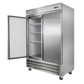 Kintera, Bottom Mount Reach-In Freezer, Two-Section, 49 cu ft, Aluminum and S/S