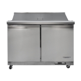 "Kintera, Salad / Sandwich Refrigerator, Two-Section, 48 1/4""W, 12 cu ft"