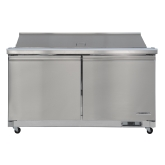 "Kintera, Salad / Sandwich Refrigerator Mega-Top, Two-Section, 61 1/4""W, 15.50 cu ft"