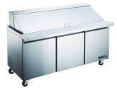 "Kintera, Salad / Sandwich Refrigerator Mega-Top, Three-Section, 71 3/4""W, 18 cu ft"