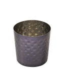 Arcata, French Fry Cup, 10 oz, Hammered, S/S, Black Titanium