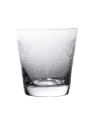 "Crystalex, Beverage Glass, 11.20 oz, 3 3/4""H, w/Etched Decor"