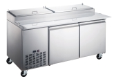 Kintera, Pizza Prep Refrigerator, Two-Section, 16.9 cu ft