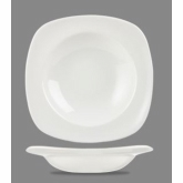 "Churchill China Soup Plate, X Squared, White, 9 3/4"", Super Vit"