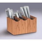 "CAL-MIL, 3-Compartment Cutlery Holder, 4 3/4"" H, Bamboo"