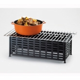 "CAL-MIL, Rectangle Chafer Alternative, Black, 7 1/2"" H, Iron"