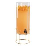 CAL-MIL, Mid-Century Round Beverage Dispenser, 3 gallon, Ice Chamber