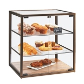 "CAL-MIL, Sierra 3-Tier Bakery Display Case, 21""W x 17""D x 23 1/4""H, (2) Doors"