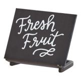 "CAL-MIL, Sierra Chalkboard Sign, 4""W x 3""H Write On Area, Metal Frame"