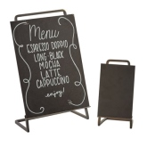"CAL-MIL, Sierra Chalkboard Sign, 8 1/2""W x 11""H Write On Area, Metal Frame"