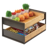 "CAL-MIL, Sierra Drawer Display, 21 3/4""W x 15 1/2""D x 11 1/2""H, (2) Wood Drawers"