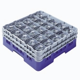 "Cambro Camrack Glass Rack, w/ 5 Extenders, 36 Compartments, 2 7/8"" Max. dia., 11"" Max. H, Soft Gray"