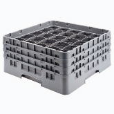 "Cambro, Camrack Glass Rack, w/ 5 Extenders, Full Size, 25 Compartments, 10 1/8"" Max. H, Sherwood Green"