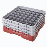 "Cambro Camrack Glass Rack, w/ 5 Extenders, 49 Compartments, 2 7/16"" Max. dia., 10 1/8"" Max. H, Teal"