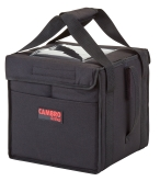 "Delivery Bag, small, 10"" x 10"" x 11"", folding, velcro lid with sewn-in ticket pouch, sewn-in straps, side pocket, high density"