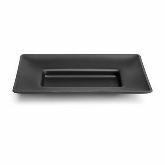 "Delfin, Rectangular Tray, Downtown, Black Matte, 12"" x 8"" x 1 1/2"""