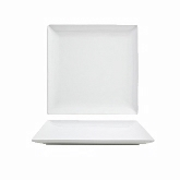Front of the House Plate, Porcelain, Square, Mod, 8 1/4""