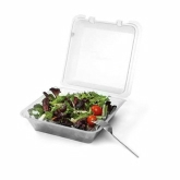 "G.E.T., Food Container, Eco-Takeouts, Clear, 1 Compartment, 9"" x 9"" x 3 1/2"""
