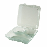 "G.E.T., Food Container, Eco-Takeouts, Jade, 3 Compartments, 9"" x 9"" x 2 3/4"""