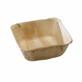 PacknWood, Disposable Palmbowl Bowl, Palm Leaf, Square, 16 oz