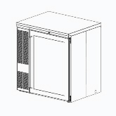 Perlick, Backbar Storage Cabinet, One-Section, S/S