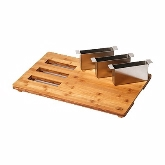 "Rosseto, Serving Board and Cutlery Organizer, Multi Chef, 21.57"" x 13.58"" x 1.57"", Bamboo"