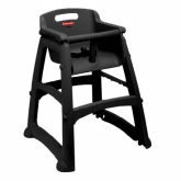 Rubbermaid, Sturdy Chair Youth Seat w/out Wheels, Safety Harness w/ Release Mechanism, Black