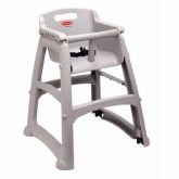 Rubbermaid, Sturdy Chair Youth Seat w/out Wheels, Safety Harness w/ Release Mechanism, Platinum