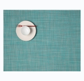 "Chilewich, 12"" x 16"" Mini Basketweave Placemat, Turquoise"