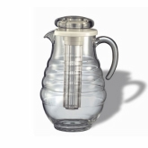 Service Ideas Water Pitcher, 3.3 liter, ribbed Surface