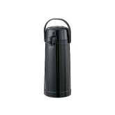 Service Ideas Inc., Eco-Air Airpot, 2.20 liter, Smooth Body, ABS Plastic, Black, Pump Style