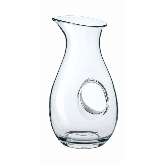 "Steelite International Carafe, 50 1/3 oz 12"", Glass, Handled, Crystal, Non Lead, Pulled Stem, Laser Cut, Aurum"