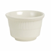 Tuxton China Bouillon, 7 oz Embossed, Meridian America, White