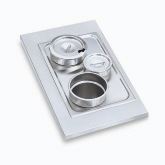 "Vollrath Adaptor Plate, w/One 4 7/8"" and Two 6 3/8"" Inset Holes"