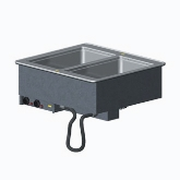 Vollrath 2 Well Hot Mod Drop-In w/Thermostatic Control, Auto-Fill and Manifold Drains, AMPS 16.7