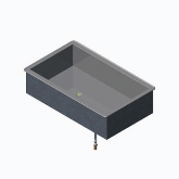 "Vollrath 3 Pan Non-Refrigerated Cold Pan Modular Drop-In, S/S, 8"" Deep Well"