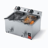 Vollrath, Fryer, Countertop, Electric, Dual Fry Pot, 15 Lb, Twin Basket, S/S , 220v/60/1 ph
