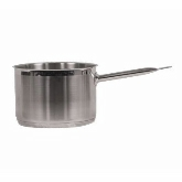 "Vollrath, Optio Sauce Pan w/Cover, 1 qt, 5 1/2"" dia., 2 3/4"" Deep, Induction Ready, S/S"